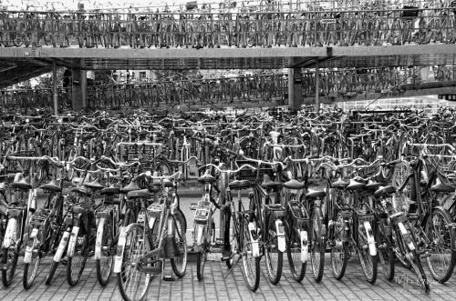 Amsterdam railway Station, bike park