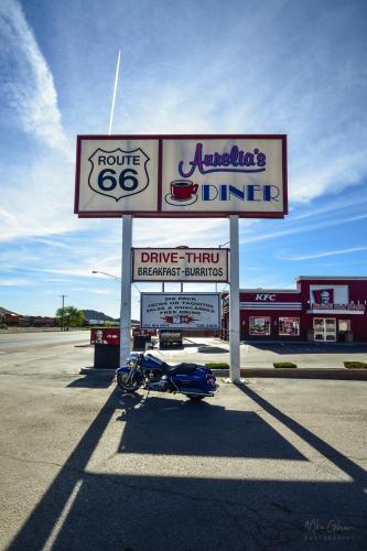 Aurelias Diner road sign 12x18