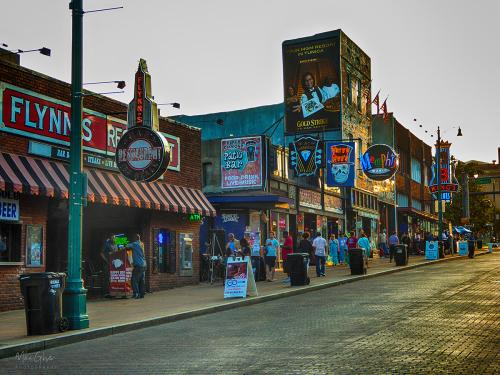 Beale Street Memphis the streets are paved with gold 12x