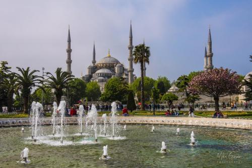 Blue Mosque with fountains 1800 mgp