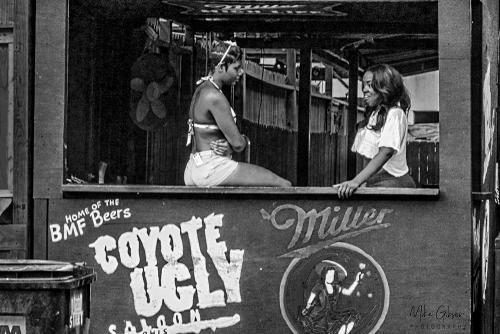 Coyote Ugly girls B&W 12x