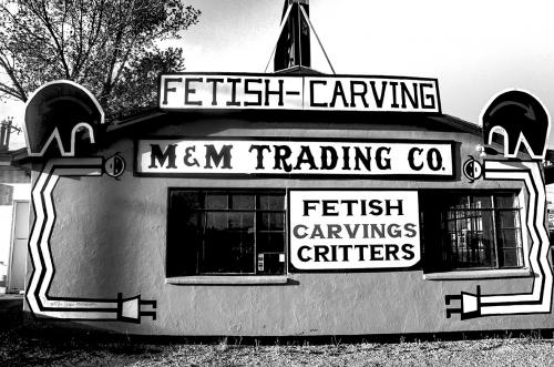 Gallup Fetish Carving B&W 12x
