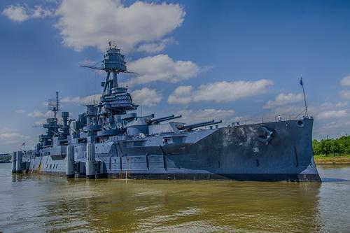 HMS Texas at San Jacinto 12x
