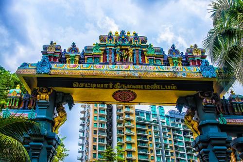Hindu Temple Singapore 12x8