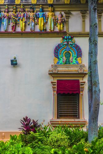 Hindu Temple detail Singapore 12x8