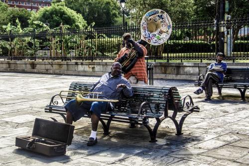 Jackson Square musicians 12x18