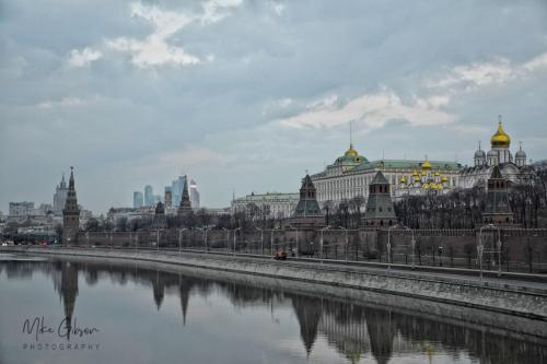 Kremlin, Moscow Moskva River 18x12 mgp