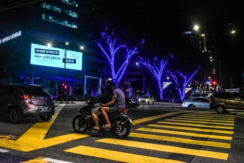 Kuala Lumup street night 12x