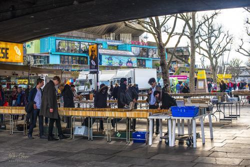 London Embankment book stall by RFH 12x8