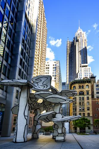 Lower Manhattan sculpture 12x