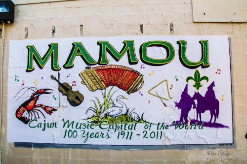 Mamou wall - The Cajun Music Capital of the World 12x18