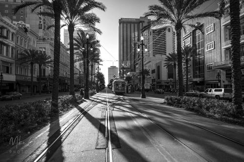 New Orleans Canal Street b&w