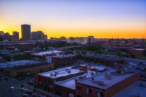 Oklahoma Bricktown sunset 12x