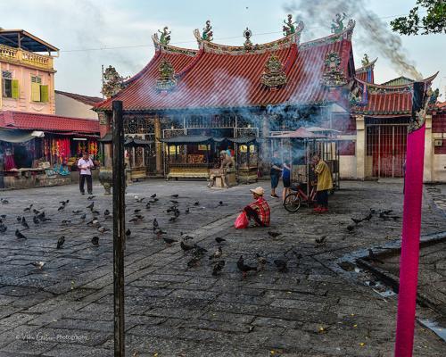 Penang temple 12x