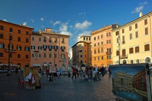 Piazza Navaro Rome 12x18
