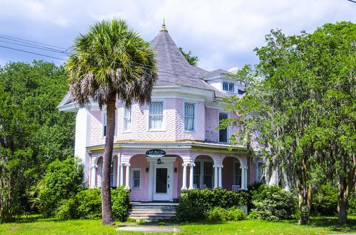 Pink House Beaufort South Carolina 12x