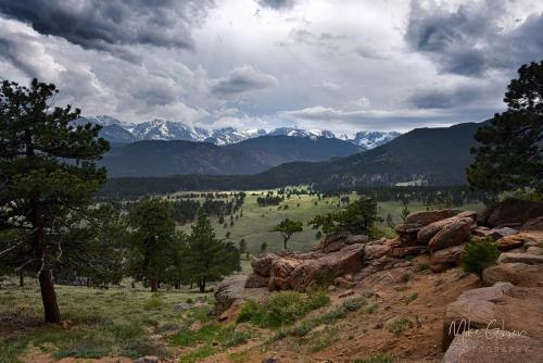Rocky Mountain National Park valley 18x12