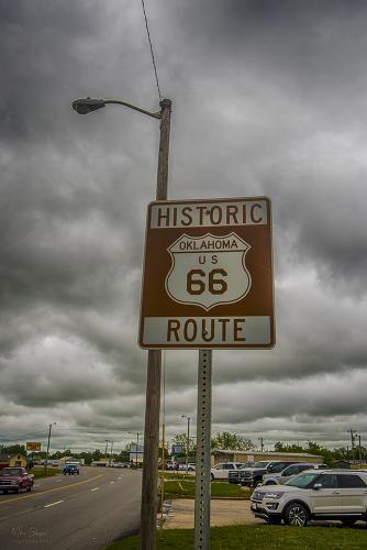 Route 66 sign Oklahoma 12x