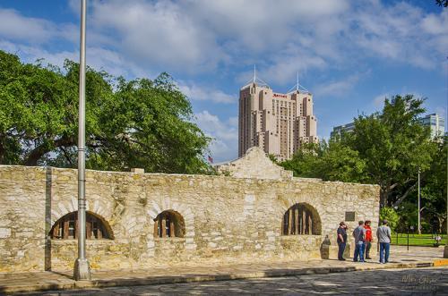 San Antonio wall around the Alamo 12x