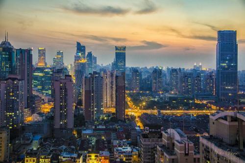 Shanghai Sunset 12x18