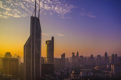 Shanghai sunsise 12x18