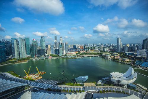 Singapore Harbor 12x8