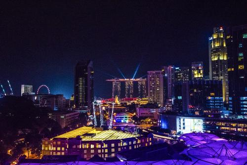 Singapore at night 12x8