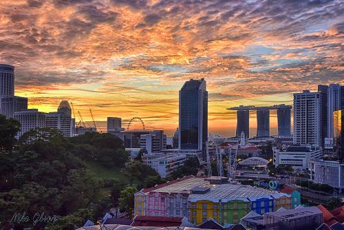 Singapore sunrise. 2 12x8