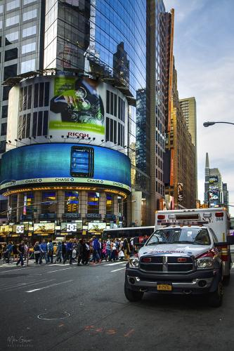 Times Square with FDNY truck 12x