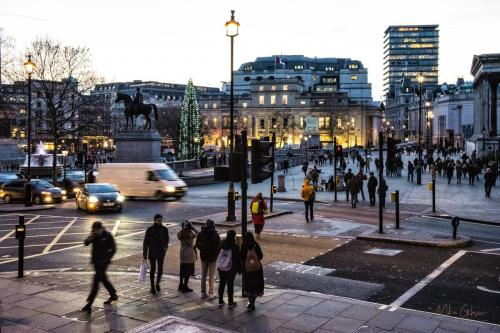 Trafalgar Square, London sunset 18x12
