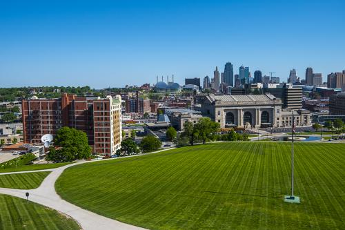 View from War Museum towards Railway Station Kansas City 12x