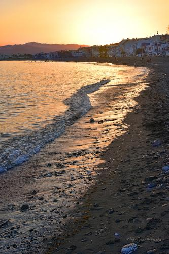 beach sunset 12x