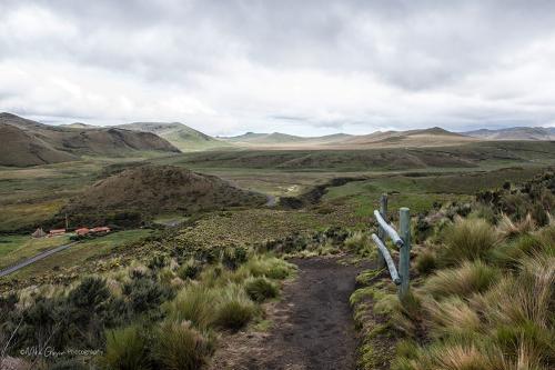 Antisana mountain trail