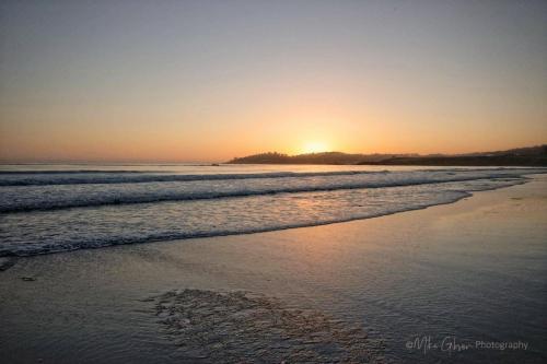 Carmel beach after sunset 18x12 mg