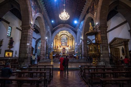Guapulo Colonial Church Iglesia Nuestra Senora de Guapulo, Quito Ecuador -interior