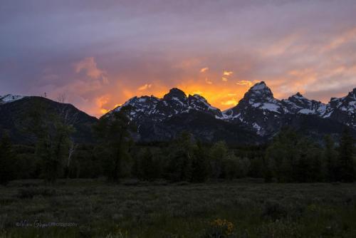 Tetons sunset 5 x